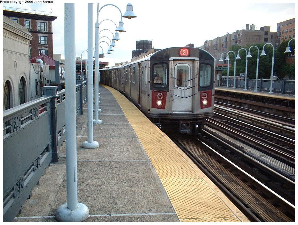 (221k, 1044x788)<br><b>Country:</b> United States<br><b>City:</b> New York<br><b>System:</b> New York City Transit<br><b>Line:</b> IRT White Plains Road Line<br><b>Location:</b> 174th Street <br><b>Route:</b> 2<br><b>Car:</b> R-142 (Primary Order, Bombardier, 1999-2002)  6305 <br><b>Photo by:</b> John Barnes<br><b>Date:</b> 7/23/2006<br><b>Viewed (this week/total):</b> 2 / 3589