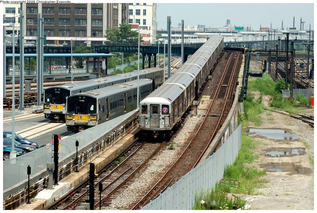 (256k, 1044x701)<br><b>Country:</b> United States<br><b>City:</b> New York<br><b>System:</b> New York City Transit<br><b>Line:</b> IRT Flushing Line<br><b>Location:</b> Viaduct approach east of Hunterspoint Ave. <br><b>Route:</b> 7<br><b>Car:</b> R-62A (Bombardier, 1984-1987)   <br><b>Photo by:</b> Christopher Esposito<br><b>Date:</b> 7/26/2006<br><b>Viewed (this week/total):</b> 6 / 4943