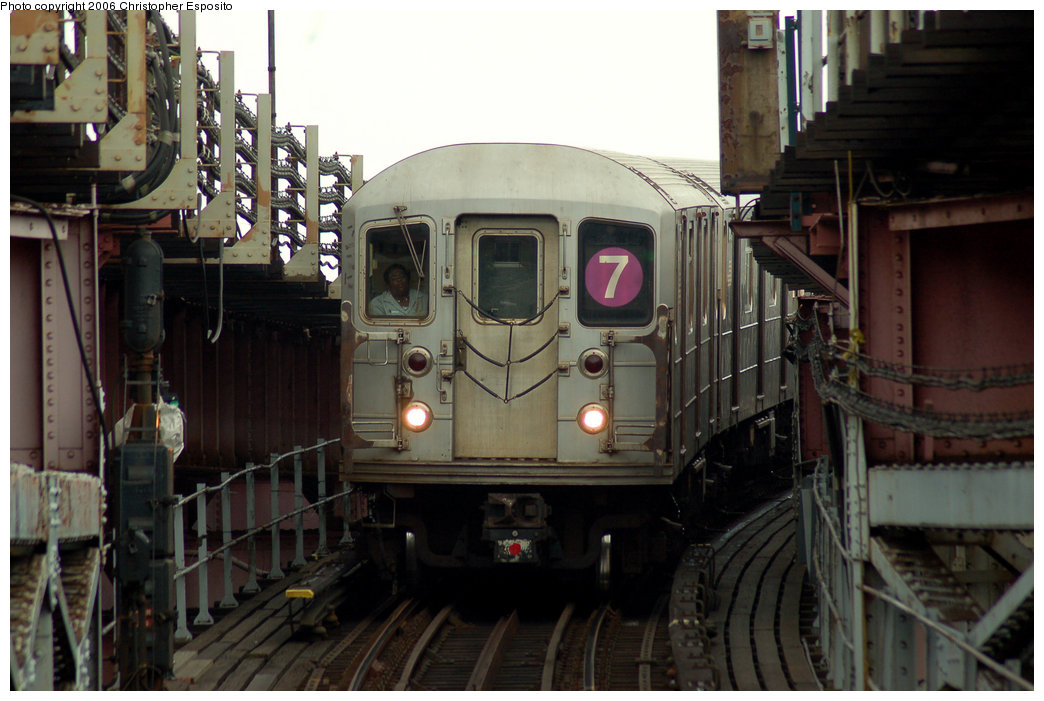 (168k, 1044x701)<br><b>Country:</b> United States<br><b>City:</b> New York<br><b>System:</b> New York City Transit<br><b>Line:</b> IRT Flushing Line<br><b>Location:</b> Queensborough Plaza <br><b>Route:</b> 7<br><b>Car:</b> R-62A (Bombardier, 1984-1987)   <br><b>Photo by:</b> Christopher Esposito<br><b>Date:</b> 7/27/2006<br><b>Viewed (this week/total):</b> 1 / 3386