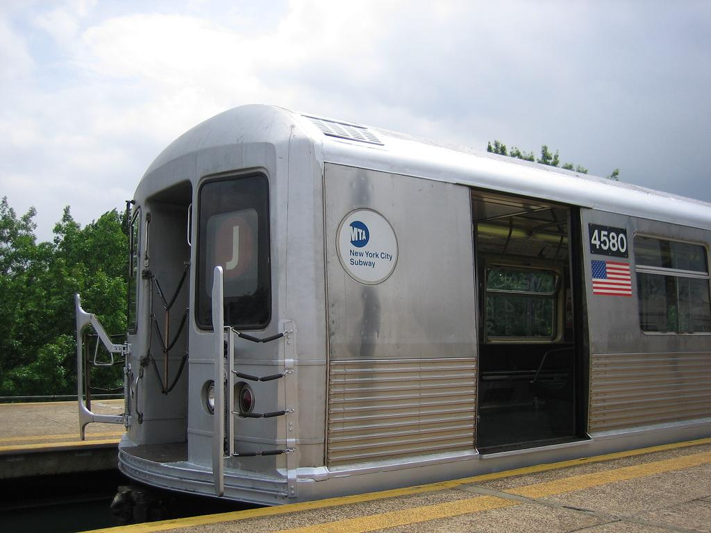 (103k, 1024x768)<br><b>Country:</b> United States<br><b>City:</b> New York<br><b>System:</b> New York City Transit<br><b>Line:</b> BMT Culver Line<br><b>Location:</b> 18th Avenue <br><b>Car:</b> R-42 (St. Louis, 1969-1970)  4580 <br><b>Photo by:</b> Michael Hodurski<br><b>Date:</b> 7/13/2006<br><b>Notes:</b> Train being used for filming of movie The Brave One.<br><b>Viewed (this week/total):</b> 0 / 3149