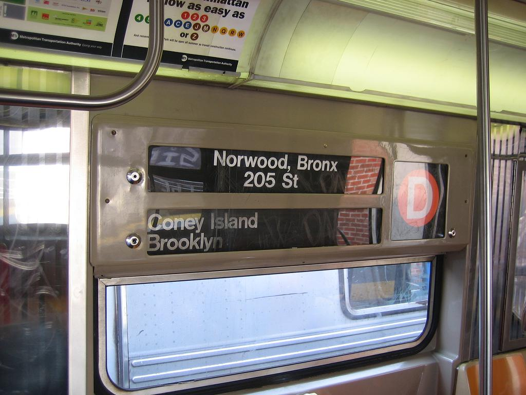 (119k, 1024x768)<br><b>Country:</b> United States<br><b>City:</b> New York<br><b>System:</b> New York City Transit<br><b>Location:</b> Coney Island/Stillwell Avenue<br><b>Route:</b> D<br><b>Car:</b> R-68 (Westinghouse-Amrail, 1986-1988)  2775 <br><b>Photo by:</b> Michael Hodurski<br><b>Date:</b> 7/26/2006<br><b>Notes:</b> Note original roll signs.<br><b>Viewed (this week/total):</b> 0 / 5327
