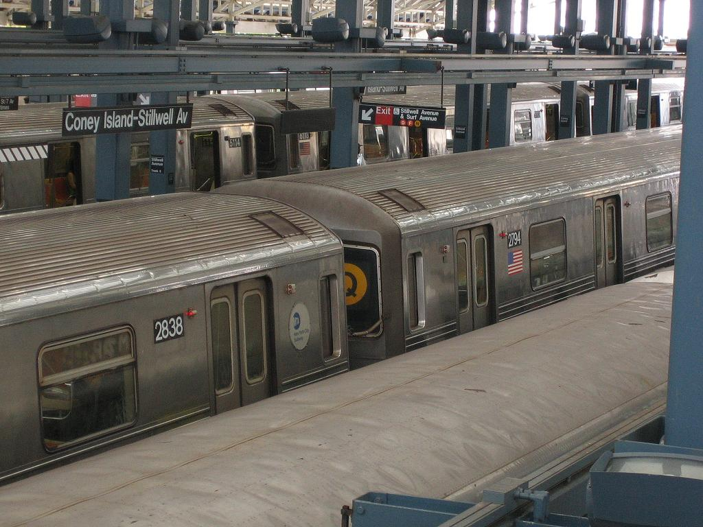 (142k, 1024x768)<br><b>Country:</b> United States<br><b>City:</b> New York<br><b>System:</b> New York City Transit<br><b>Location:</b> Coney Island/Stillwell Avenue<br><b>Route:</b> Q<br><b>Car:</b> R-68 (Westinghouse-Amrail, 1986-1988)  2794 <br><b>Photo by:</b> Michael Hodurski<br><b>Date:</b> 7/27/2006<br><b>Viewed (this week/total):</b> 2 / 2712