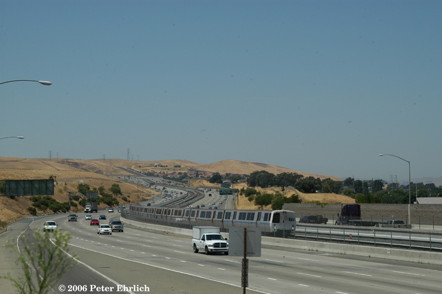 (119k, 864x574)<br><b>Country:</b> United States<br><b>City:</b> San Francisco/Bay Area, CA<br><b>System:</b> BART<br><b>Location:</b> Pittsburg/Bay Point<br><b>Car:</b> BART 2508 <br><b>Photo by:</b> Peter Ehrlich<br><b>Date:</b> 7/21/2006<br><b>Notes:</b> Train approaching Pittsburg/Bay Point Station.<br><b>Viewed (this week/total):</b> 0 / 1610