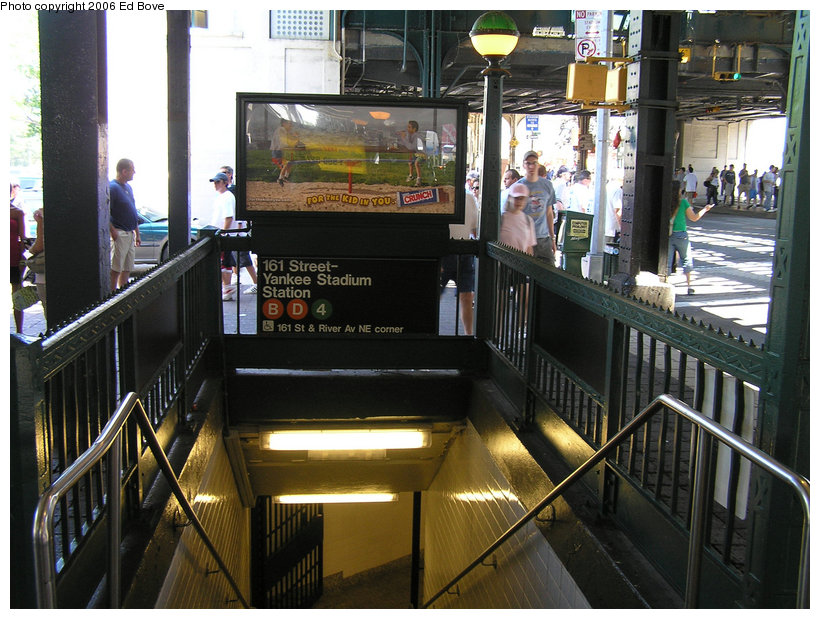 (157k, 820x619)<br><b>Country:</b> United States<br><b>City:</b> New York<br><b>System:</b> New York City Transit<br><b>Line:</b> IND Concourse Line<br><b>Location:</b> 161st Street/River Avenue (Yankee Stadium) <br><b>Photo by:</b> Ed Bove<br><b>Date:</b> 7/16/2006<br><b>Notes:</b> Station entrance.<br><b>Viewed (this week/total):</b> 2 / 8219