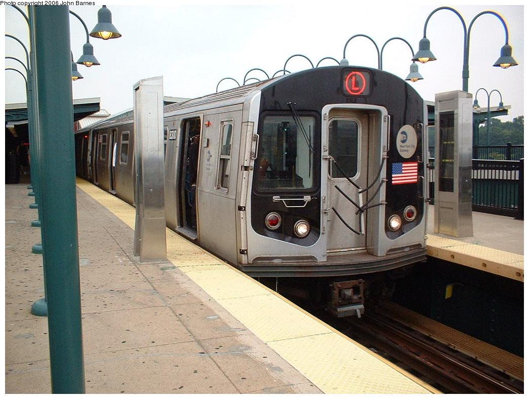 (181k, 1044x788)<br><b>Country:</b> United States<br><b>City:</b> New York<br><b>System:</b> New York City Transit<br><b>Line:</b> BMT Canarsie Line<br><b>Location:</b> Broadway Junction <br><b>Route:</b> L<br><b>Car:</b> R-143 (Kawasaki, 2001-2002) 8300 <br><b>Photo by:</b> John Barnes<br><b>Date:</b> 8/7/2006<br><b>Viewed (this week/total):</b> 3 / 2343