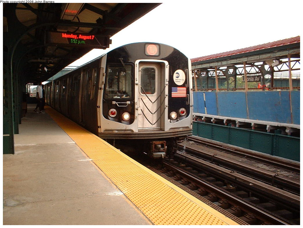 (195k, 1044x788)<br><b>Country:</b> United States<br><b>City:</b> New York<br><b>System:</b> New York City Transit<br><b>Line:</b> BMT Canarsie Line<br><b>Location:</b> Livonia Avenue <br><b>Route:</b> L<br><b>Car:</b> R-143 (Kawasaki, 2001-2002) 8253 <br><b>Photo by:</b> John Barnes<br><b>Date:</b> 8/7/2006<br><b>Viewed (this week/total):</b> 0 / 3700