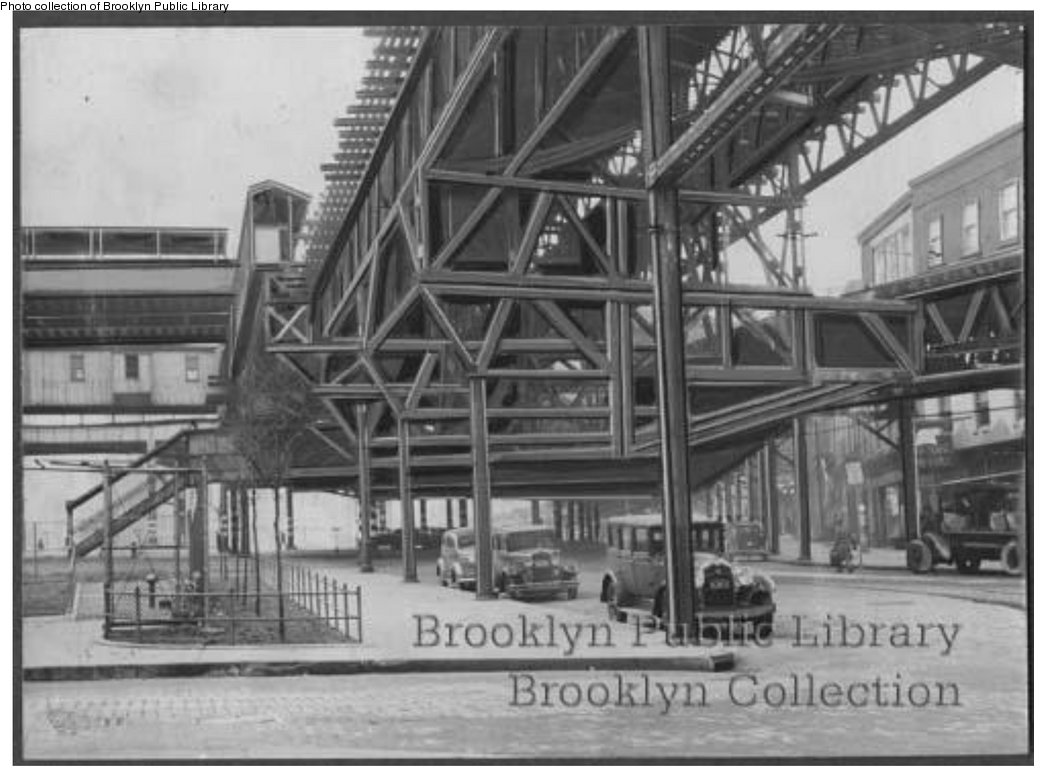 (129k, 1044x782)<br><b>Country:</b> United States<br><b>City:</b> New York<br><b>System:</b> New York City Transit<br><b>Line:</b> BMT Fulton<br><b>Location:</b> Sands Street <br><b>Collection of:</b> Brooklyn Public Library (via Herbert Maruska)<br><b>Viewed (this week/total):</b> 1 / 2148