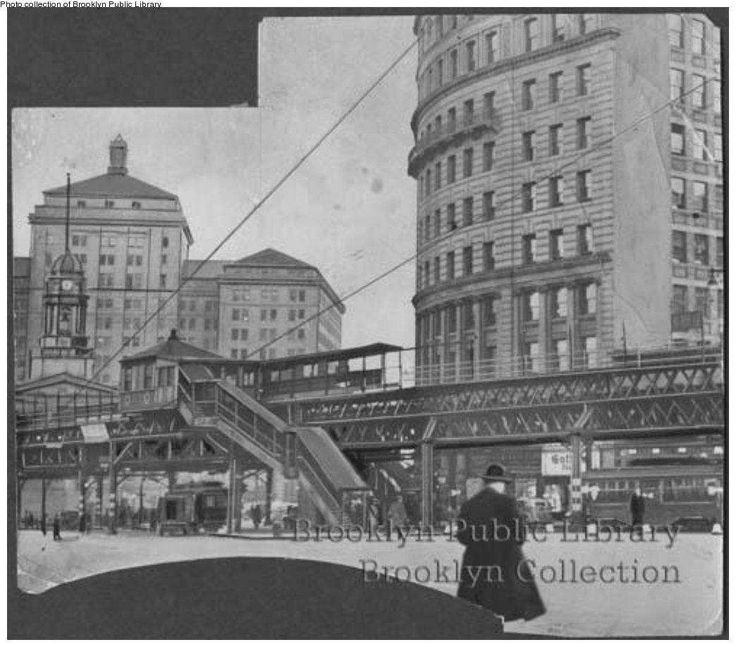 (139k, 1044x917)<br><b>Country:</b> United States<br><b>City:</b> New York<br><b>System:</b> New York City Transit<br><b>Line:</b> BMT Fulton<br><b>Location:</b> Court St./Myrtle Ave <br><b>Collection of:</b> Brooklyn Public Library (via Herbert Maruska)<br><b>Viewed (this week/total):</b> 0 / 1668