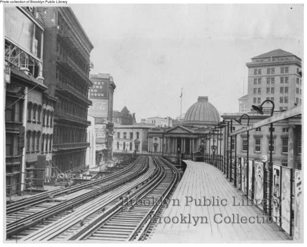 (135k, 1044x840)<br><b>Country:</b> United States<br><b>City:</b> New York<br><b>System:</b> New York City Transit<br><b>Line:</b> BMT Fulton<br><b>Location:</b> Court St./Myrtle Ave <br><b>Collection of:</b> Brooklyn Public Library (via Herbert Maruska)<br><b>Viewed (this week/total):</b> 2 / 2321