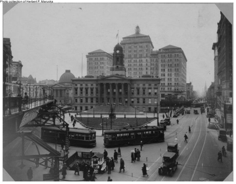 (88k, 920x717)<br><b>Country:</b> United States<br><b>City:</b> New York<br><b>System:</b> New York City Transit<br><b>Line:</b> BMT Fulton<br><b>Location:</b> Court St./Myrtle Ave <br><b>Collection of:</b> Brooklyn Public Library (via Herbert Maruska)<br><b>Date:</b> 1925<br><b>Viewed (this week/total):</b> 2 / 1669