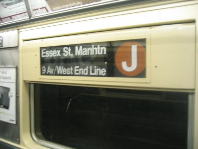 (69k, 640x480)<br><b>Country:</b> United States<br><b>City:</b> New York<br><b>System:</b> New York City Transit<br><b>Route:</b> J<br><b>Car:</b> R-42 (St. Louis, 1969-1970)  Interior <br><b>Photo by:</b> Charles Ali<br><b>Date:</b> 6/17/2006<br><b>Notes:</b> R42 rollsign.<br><b>Viewed (this week/total):</b> 0 / 2667