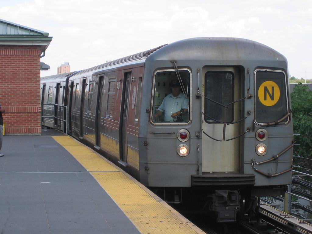 (101k, 1024x768)<br><b>Country:</b> United States<br><b>City:</b> New York<br><b>System:</b> New York City Transit<br><b>Location:</b> Coney Island/Stillwell Avenue<br><b>Route:</b> N<br><b>Car:</b> R-68A (Kawasaki, 1988-1989)  5100 <br><b>Photo by:</b> Michael Hodurski<br><b>Date:</b> 8/8/2006<br><b>Viewed (this week/total):</b> 0 / 2487