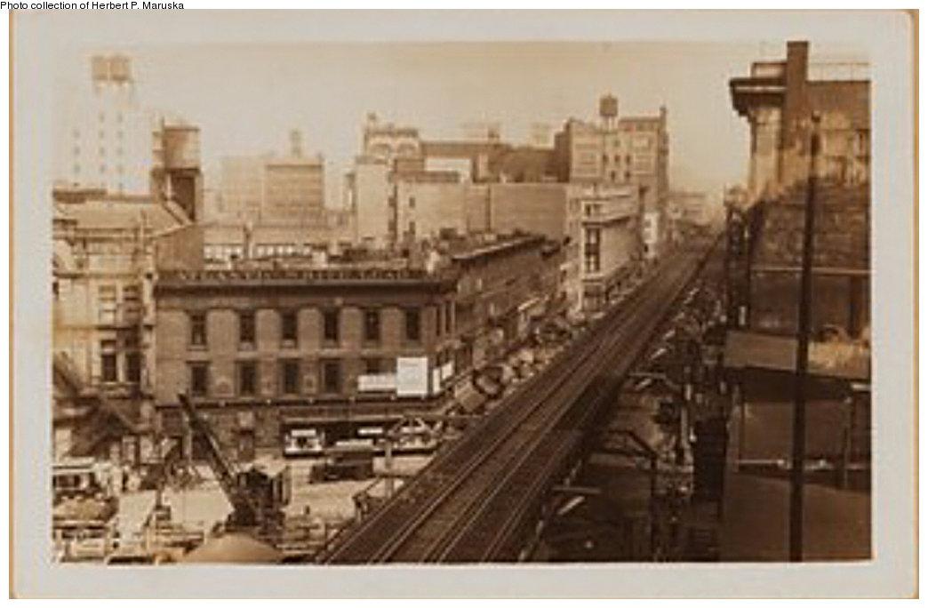 (131k, 1044x684)<br><b>Country:</b> United States<br><b>City:</b> New York<br><b>System:</b> New York City Transit<br><b>Line:</b> BMT Fulton<br><b>Location:</b> Boerum Place <br><b>Collection of:</b> Herbert P. Maruska<br><b>Date:</b> 1930<br><b>Notes:</b> Boerum Place station view from Pearl St.<br><b>Viewed (this week/total):</b> 0 / 1461