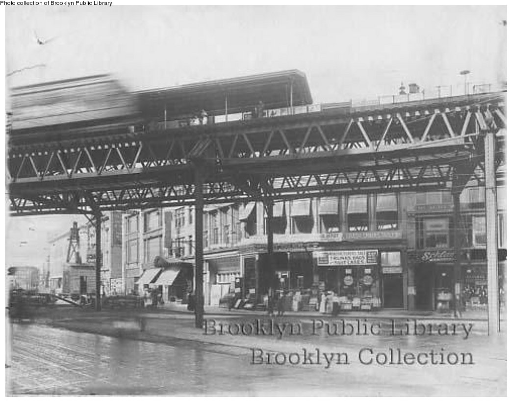 (153k, 1044x819)<br><b>Country:</b> United States<br><b>City:</b> New York<br><b>System:</b> New York City Transit<br><b>Line:</b> BMT Fulton<br><b>Location:</b> Flatbush Avenue <br><b>Collection of:</b> Brooklyn Public Library (via Herbert Maruska)<br><b>Date:</b> 1909<br><b>Viewed (this week/total):</b> 0 / 1535