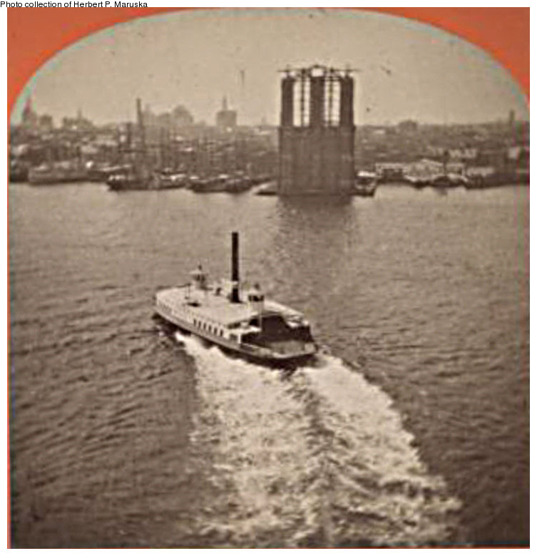 (110k, 753x780)<br><b>Country:</b> United States<br><b>City:</b> New York<br><b>System:</b> New York City Transit<br><b>Line:</b> BMT Fulton<br><b>Location:</b> Fulton Ferry (Manhattan) <br><b>Collection of:</b> Herbert P. Maruska<br><b>Date:</b> 1875<br><b>Notes:</b> Fulton Ferry terminal, Water St., Manhattan.<br><b>Viewed (this week/total):</b> 2 / 1636