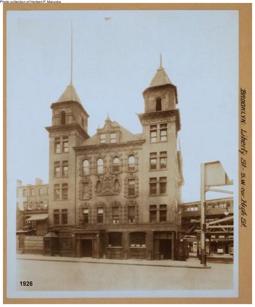 (115k, 867x1044)<br><b>Country:</b> United States<br><b>City:</b> New York<br><b>System:</b> New York City Transit<br><b>Line:</b> BMT Fulton<br><b>Location:</b> Sands Street <br><b>Collection of:</b> Herbert P. Maruska<br><b>Date:</b> 1926<br><b>Notes:</b> Sands Street Station from Liberty Street<br><b>Viewed (this week/total):</b> 2 / 1405
