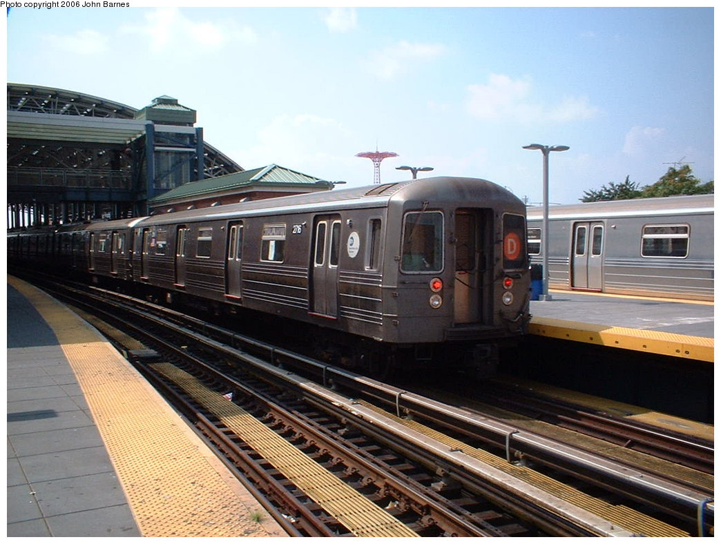 (190k, 1044x788)<br><b>Country:</b> United States<br><b>City:</b> New York<br><b>System:</b> New York City Transit<br><b>Location:</b> Coney Island/Stillwell Avenue<br><b>Route:</b> D<br><b>Car:</b> R-68 (Westinghouse-Amrail, 1986-1988) 2716 <br><b>Photo by:</b> John Barnes<br><b>Date:</b> 8/20/2006<br><b>Viewed (this week/total):</b> 0 / 2996