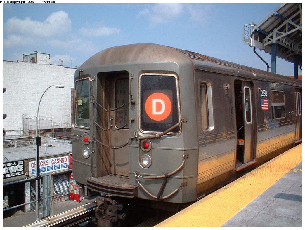 (185k, 1044x788)<br><b>Country:</b> United States<br><b>City:</b> New York<br><b>System:</b> New York City Transit<br><b>Location:</b> Coney Island/Stillwell Avenue<br><b>Route:</b> D<br><b>Car:</b> R-68 (Westinghouse-Amrail, 1986-1988) 2692 <br><b>Photo by:</b> John Barnes<br><b>Date:</b> 8/20/2006<br><b>Viewed (this week/total):</b> 2 / 3152