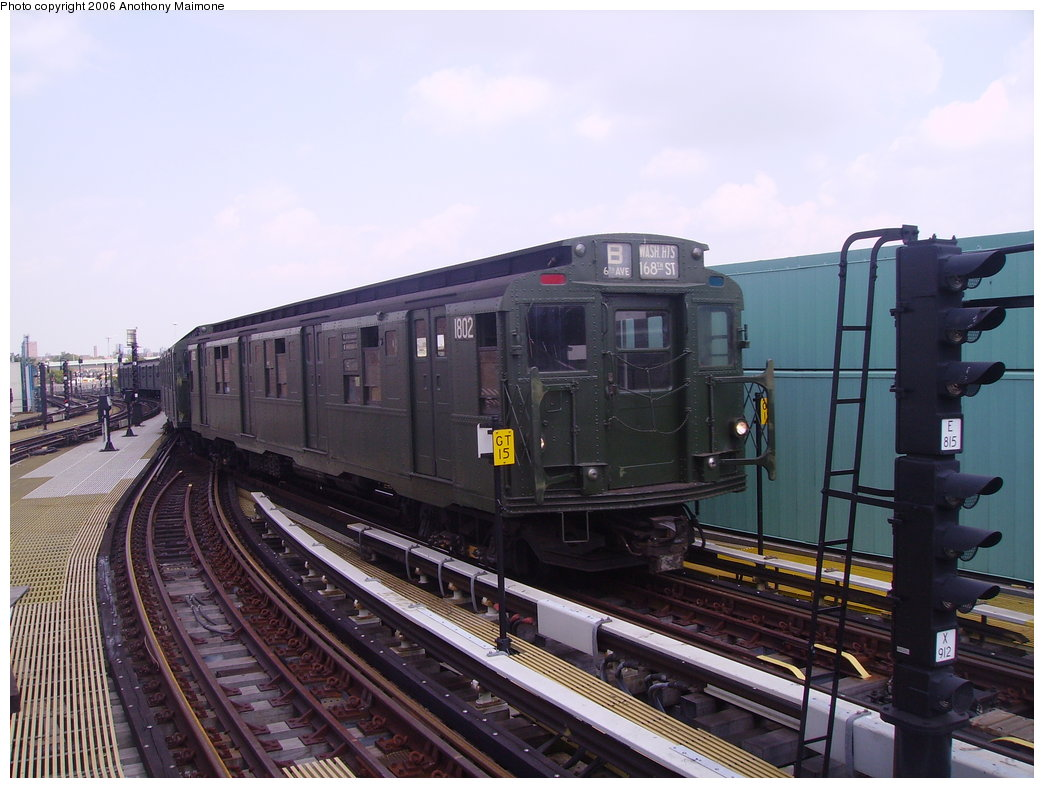 (177k, 1044x788)<br><b>Country:</b> United States<br><b>City:</b> New York<br><b>System:</b> New York City Transit<br><b>Location:</b> Coney Island/Stillwell Avenue<br><b>Route:</b> Fan Trip<br><b>Car:</b> R-9 (Pressed Steel, 1940) 1802 <br><b>Photo by:</b> Anthony Maimone<br><b>Date:</b> 8/20/2006<br><b>Viewed (this week/total):</b> 0 / 3032
