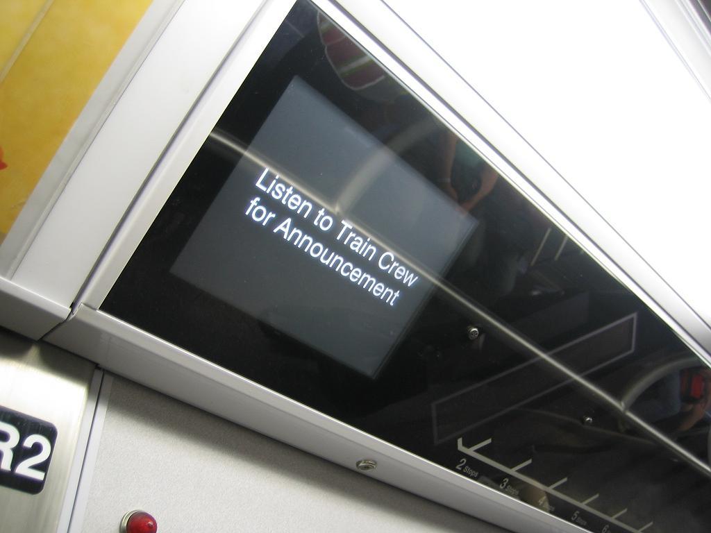 (73k, 1024x768)<br><b>Country:</b> United States<br><b>City:</b> New York<br><b>System:</b> New York City Transit<br><b>Car:</b> R-160B (Kawasaki, 2005-2008)  8714 <br><b>Photo by:</b> Michael Hodurski<br><b>Date:</b> 8/17/2006<br><b>Notes:</b> FIND station stop information indicator.<br><b>Viewed (this week/total):</b> 0 / 4589