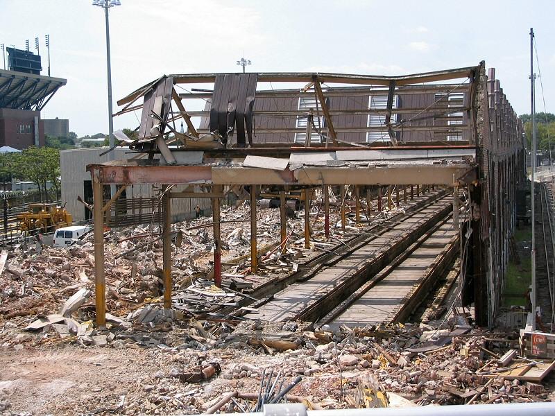 (239k, 800x600)<br><b>Country:</b> United States<br><b>City:</b> New York<br><b>System:</b> New York City Transit<br><b>Location:</b> Corona Shops<br><b>Photo by:</b> Dante D. Angerville<br><b>Date:</b> 8/22/2006<br><b>Notes:</b> Demolition of old car barn.<br><b>Viewed (this week/total):</b> 1 / 3444