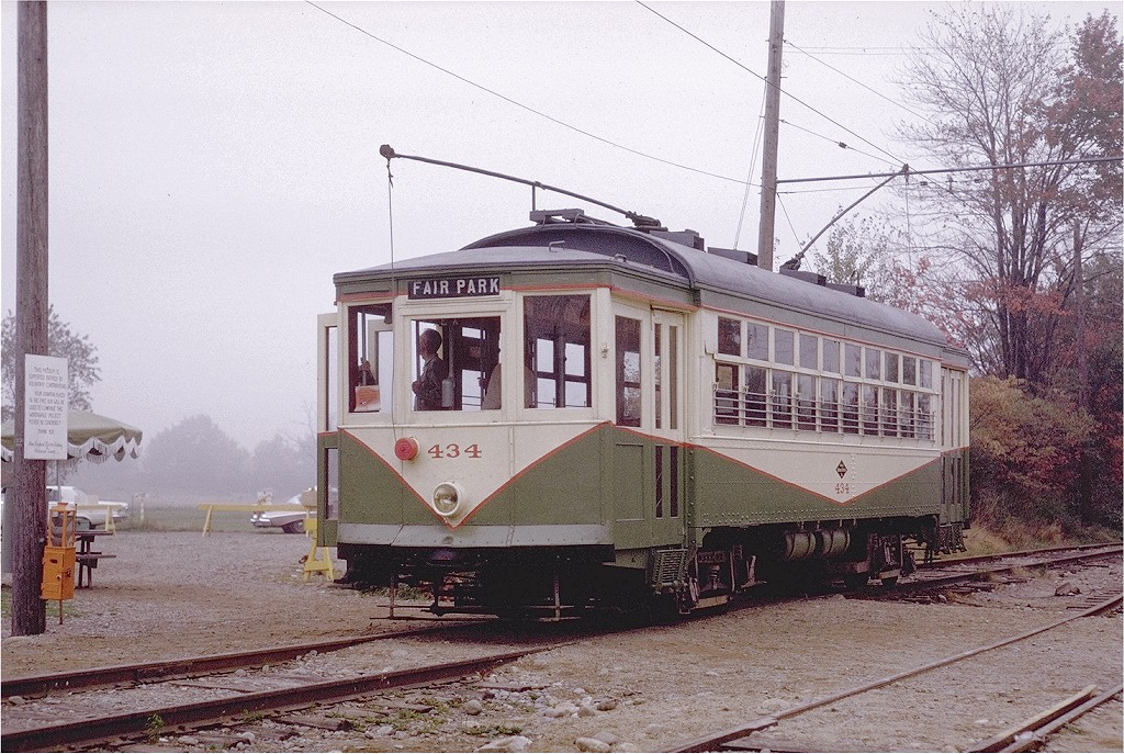 (264k, 1024x687)<br><b>Country:</b> United States<br><b>City:</b> Kennebunk, ME<br><b>System:</b> Seashore Trolley Museum <br><b>Car:</b> Dallas Railway & Terminal 434 <br><b>Photo by:</b> Joe Testagrose<br><b>Date:</b> 10/10/1970<br><b>Viewed (this week/total):</b> 0 / 964