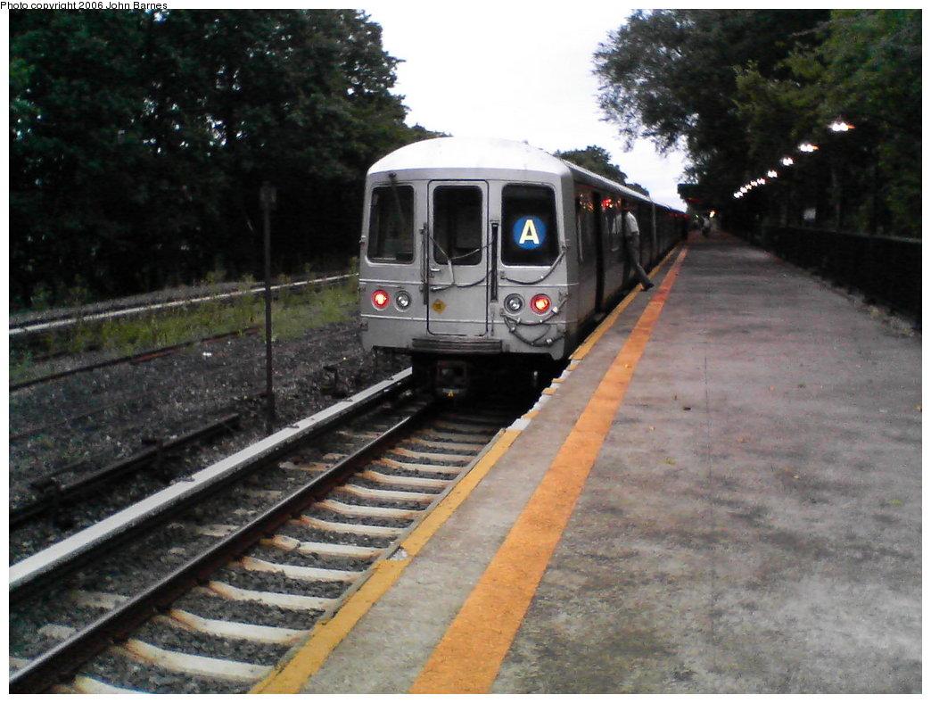 (168k, 1044x788)<br><b>Country:</b> United States<br><b>City:</b> New York<br><b>System:</b> New York City Transit<br><b>Line:</b> IND Rockaway<br><b>Location:</b> Aqueduct Racetrack <br><b>Route:</b> A<br><b>Car:</b> R-44 (St. Louis, 1971-73) 5448 <br><b>Photo by:</b> John Barnes<br><b>Date:</b> 8/26/2006<br><b>Viewed (this week/total):</b> 1 / 5201