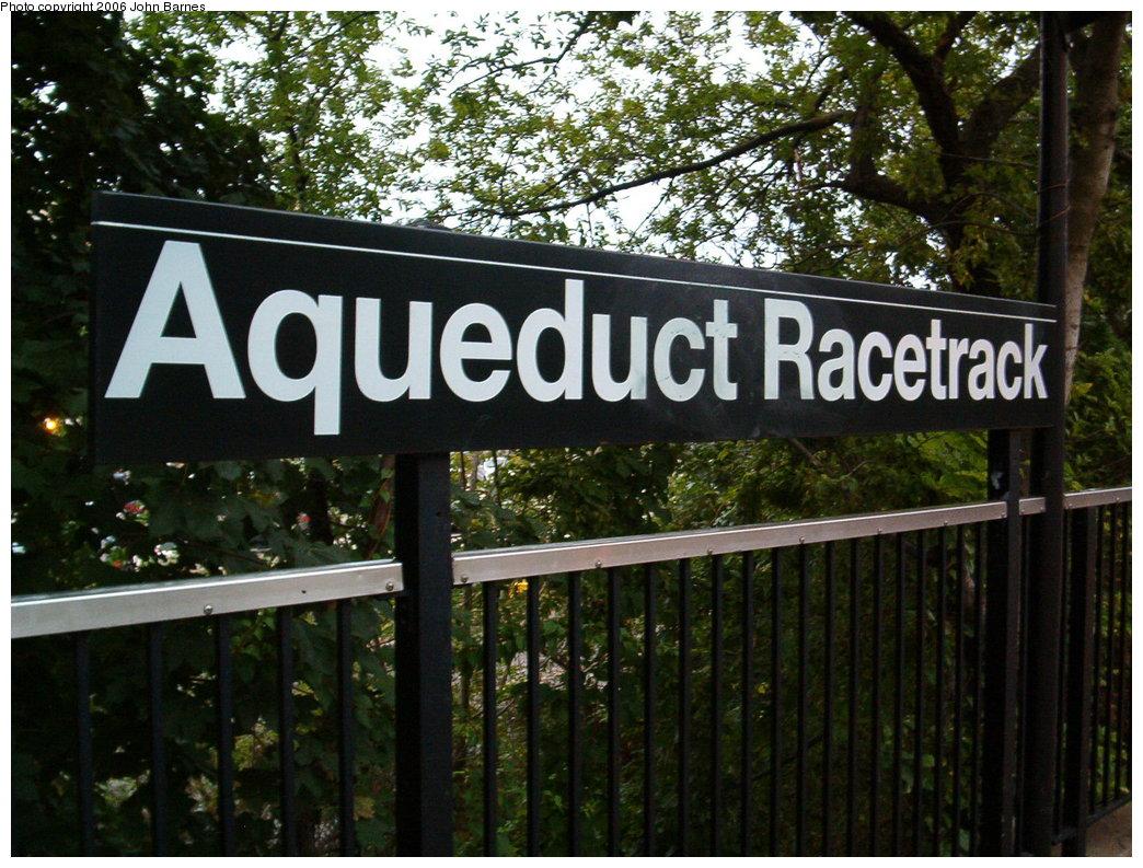 (232k, 1044x793)<br><b>Country:</b> United States<br><b>City:</b> New York<br><b>System:</b> New York City Transit<br><b>Line:</b> IND Rockaway<br><b>Location:</b> Aqueduct Racetrack <br><b>Photo by:</b> John Barnes<br><b>Date:</b> 8/26/2006<br><b>Viewed (this week/total):</b> 0 / 2330