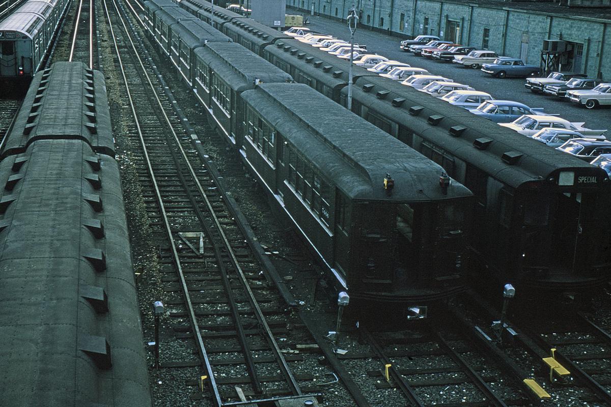 (532k, 1024x682)<br><b>Country:</b> United States<br><b>City:</b> New York<br><b>System:</b> New York City Transit<br><b>Location:</b> Corona Yard<br><b>Car:</b> Low-V (Museum Train) 5466 <br><b>Collection of:</b> David Pirmann<br><b>Viewed (this week/total):</b> 1 / 1735