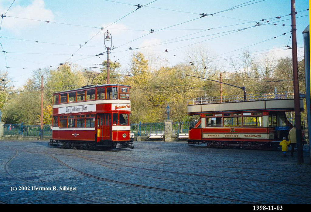 (207k, 1024x699)<br><b>Country:</b> United Kingdom<br><b>System:</b> National Tramway Museum <br><b>Photo by:</b> Herman R. Silbiger<br><b>Date:</b> 11/3/1998<br><b>Notes:</b> Leeds 180<br><b>Viewed (this week/total):</b> 1 / 804