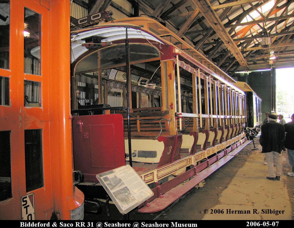 (268k, 1024x795)<br><b>Country:</b> United States<br><b>City:</b> Kennebunk, ME<br><b>System:</b> Seashore Trolley Museum <br><b>Car:</b> Biddeford & Saco 31 <br><b>Photo by:</b> Herman R. Silbiger<br><b>Date:</b> 5/7/2006<br><b>Viewed (this week/total):</b> 1 / 1017