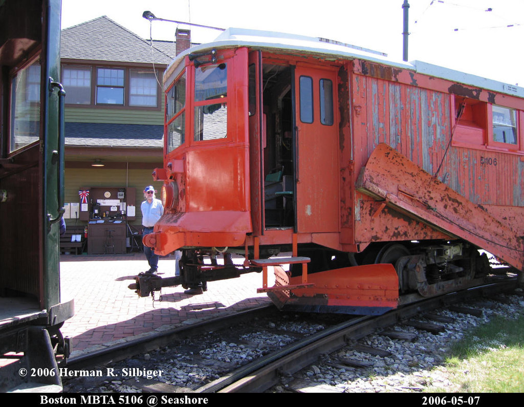 (237k, 1024x795)<br><b>Country:</b> United States<br><b>City:</b> Kennebunk, ME<br><b>System:</b> Seashore Trolley Museum <br><b>Car:</b> MBTA 5106 <br><b>Photo by:</b> Herman R. Silbiger<br><b>Date:</b> 5/7/2006<br><b>Viewed (this week/total):</b> 0 / 1018