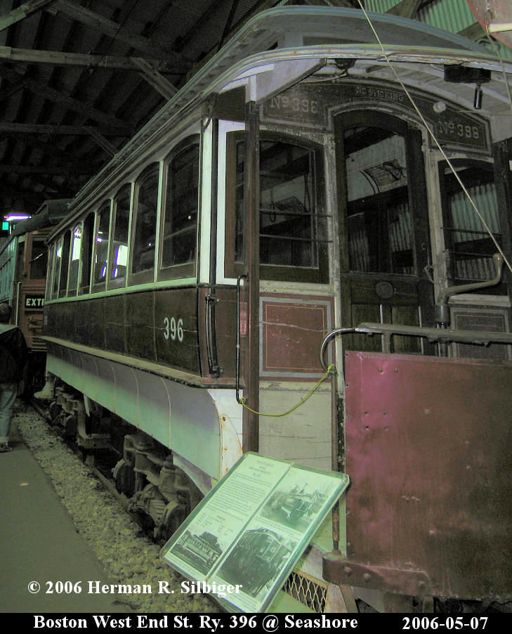 (162k, 729x902)<br><b>Country:</b> United States<br><b>City:</b> Kennebunk, ME<br><b>System:</b> Seashore Trolley Museum <br><b>Car:</b> MBTA 396 <br><b>Photo by:</b> Herman R. Silbiger<br><b>Date:</b> 5/7/2006<br><b>Viewed (this week/total):</b> 0 / 1692