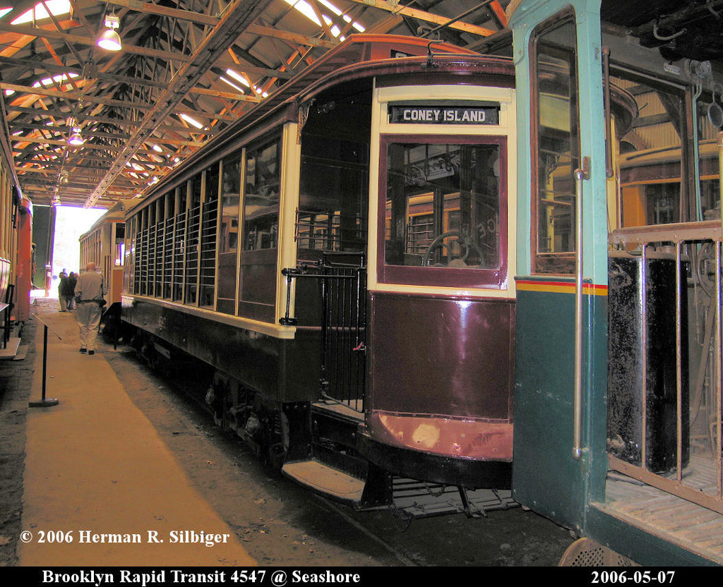 (287k, 1024x832)<br><b>Country:</b> United States<br><b>City:</b> Kennebunk, ME<br><b>System:</b> Seashore Trolley Museum <br><b>Car:</b> B&QT/BMT 4547 <br><b>Photo by:</b> Herman R. Silbiger<br><b>Date:</b> 5/7/2006<br><b>Viewed (this week/total):</b> 0 / 1151