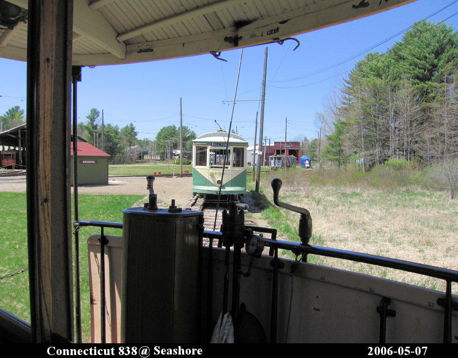 (176k, 933x730)<br><b>Country:</b> United States<br><b>City:</b> Kennebunk, ME<br><b>System:</b> Seashore Trolley Museum <br><b>Car:</b> Connecticut Company 838 <br><b>Photo by:</b> Herman R. Silbiger<br><b>Date:</b> 5/7/2006<br><b>Viewed (this week/total):</b> 1 / 989
