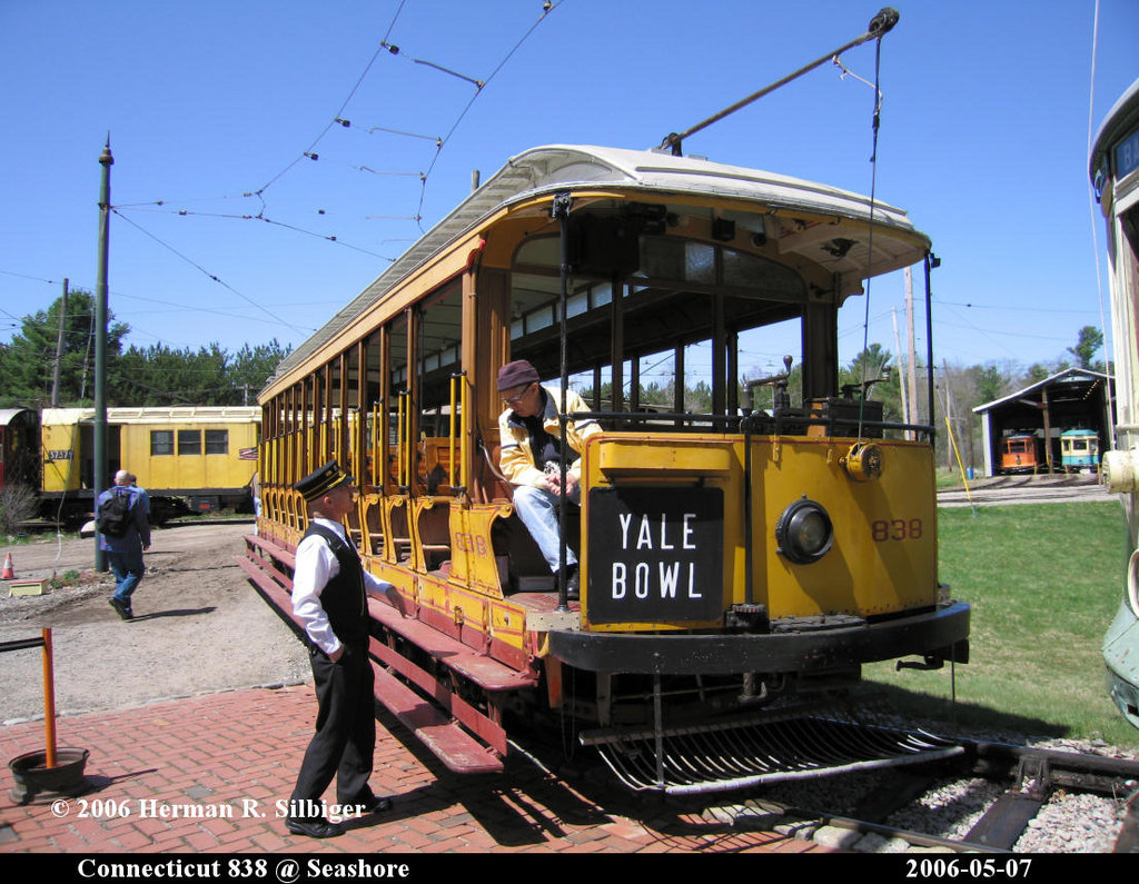 (240k, 1024x795)<br><b>Country:</b> United States<br><b>City:</b> Kennebunk, ME<br><b>System:</b> Seashore Trolley Museum <br><b>Car:</b> Connecticut Company 838 <br><b>Photo by:</b> Herman R. Silbiger<br><b>Date:</b> 5/7/2006<br><b>Viewed (this week/total):</b> 0 / 1105