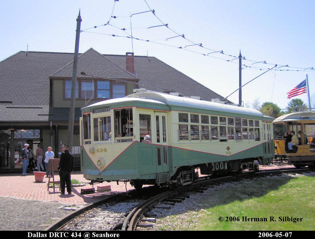 (227k, 1024x776)<br><b>Country:</b> United States<br><b>City:</b> Kennebunk, ME<br><b>System:</b> Seashore Trolley Museum <br><b>Car:</b> Dallas Railway & Terminal 434 <br><b>Photo by:</b> Herman R. Silbiger<br><b>Date:</b> 5/7/2006<br><b>Viewed (this week/total):</b> 0 / 985