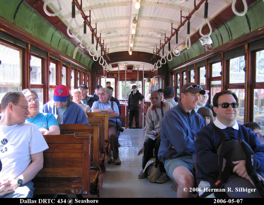 (244k, 1024x795)<br><b>Country:</b> United States<br><b>City:</b> Kennebunk, ME<br><b>System:</b> Seashore Trolley Museum <br><b>Car:</b> Dallas Railway & Terminal 434 <br><b>Photo by:</b> Herman R. Silbiger<br><b>Date:</b> 5/7/2006<br><b>Viewed (this week/total):</b> 0 / 1007