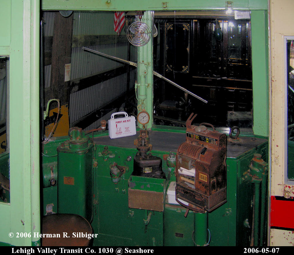 (197k, 1005x870)<br><b>Country:</b> United States<br><b>City:</b> Kennebunk, ME<br><b>System:</b> Seashore Trolley Museum <br><b>Car:</b> Lehigh Valley 1030 <br><b>Photo by:</b> Herman R. Silbiger<br><b>Date:</b> 5/7/2006<br><b>Viewed (this week/total):</b> 1 / 1110