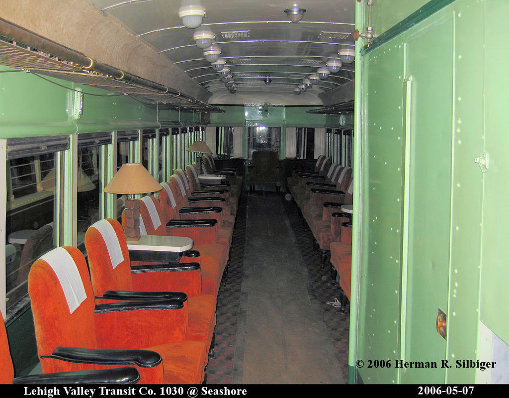 (214k, 1024x800)<br><b>Country:</b> United States<br><b>City:</b> Kennebunk, ME<br><b>System:</b> Seashore Trolley Museum <br><b>Car:</b> Lehigh Valley 1030 <br><b>Photo by:</b> Herman R. Silbiger<br><b>Date:</b> 5/7/2006<br><b>Viewed (this week/total):</b> 0 / 1372