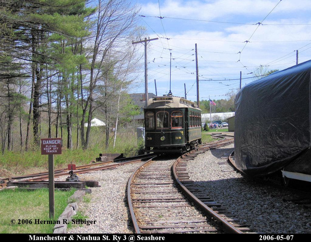 (325k, 1024x795)<br><b>Country:</b> United States<br><b>City:</b> Kennebunk, ME<br><b>System:</b> Seashore Trolley Museum <br><b>Car:</b> Manchester & Nashua 38 <br><b>Photo by:</b> Herman R. Silbiger<br><b>Date:</b> 5/7/2006<br><b>Viewed (this week/total):</b> 2 / 950