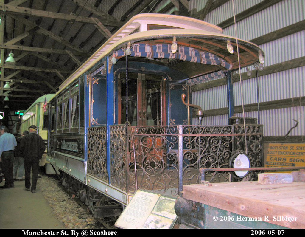 (265k, 1024x795)<br><b>Country:</b> United States<br><b>City:</b> Kennebunk, ME<br><b>System:</b> Seashore Trolley Museum <br><b>Car:</b> Manchester Street Railway City of Manchester <br><b>Photo by:</b> Herman R. Silbiger<br><b>Date:</b> 5/7/2006<br><b>Viewed (this week/total):</b> 0 / 830