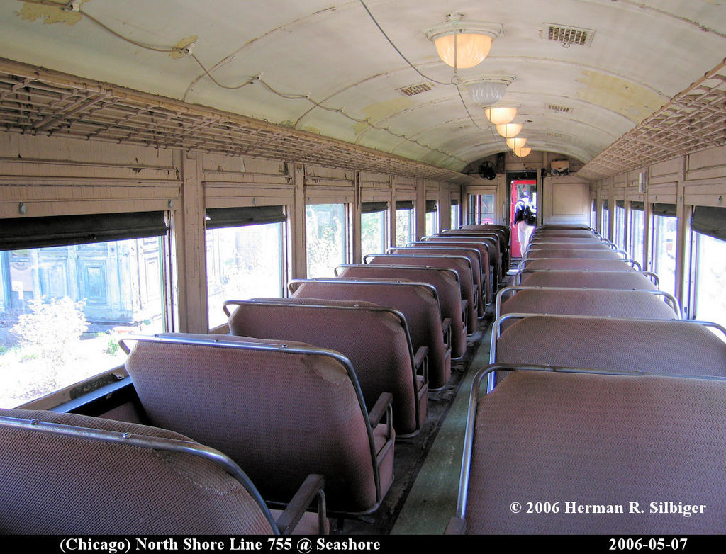 (238k, 1024x782)<br><b>Country:</b> United States<br><b>City:</b> Kennebunk, ME<br><b>System:</b> Seashore Trolley Museum <br><b>Car:</b> Chicago North Shore 755 <br><b>Photo by:</b> Herman R. Silbiger<br><b>Date:</b> 5/7/2006<br><b>Viewed (this week/total):</b> 0 / 1071