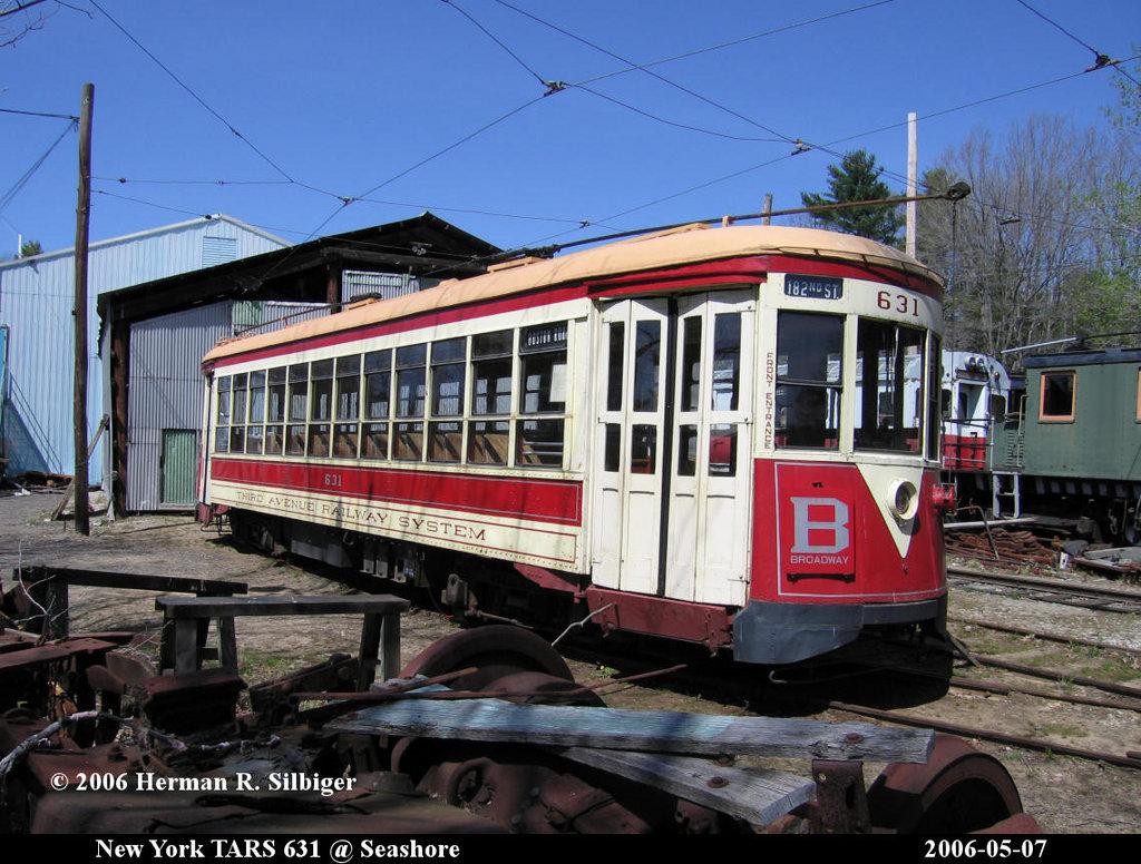 (235k, 1024x776)<br><b>Country:</b> United States<br><b>City:</b> Kennebunk, ME<br><b>System:</b> Seashore Trolley Museum <br><b>Car:</b> TARS 631 <br><b>Photo by:</b> Herman R. Silbiger<br><b>Date:</b> 5/7/2006<br><b>Viewed (this week/total):</b> 0 / 1050