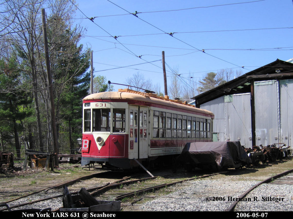 (262k, 1024x768)<br><b>Country:</b> United States<br><b>City:</b> Kennebunk, ME<br><b>System:</b> Seashore Trolley Museum <br><b>Car:</b> TARS 631 <br><b>Photo by:</b> Herman R. Silbiger<br><b>Date:</b> 5/7/2006<br><b>Viewed (this week/total):</b> 0 / 1099