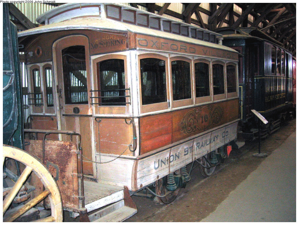 (286k, 1044x788)<br><b>Country:</b> United States<br><b>City:</b> Kennebunk, ME<br><b>System:</b> Seashore Trolley Museum <br><b>Car:</b> Union Street Railway 10 <br><b>Photo by:</b> John Schmidt<br><b>Date:</b> 8/18/2006<br><b>Viewed (this week/total):</b> 2 / 906