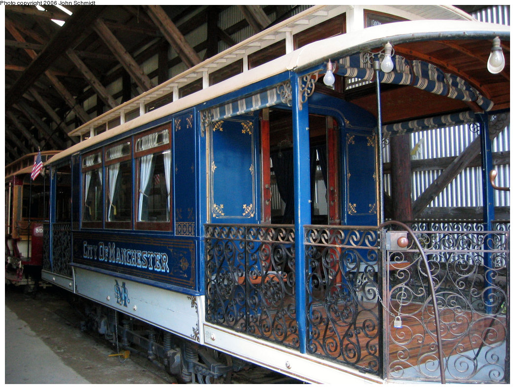 (291k, 1044x788)<br><b>Country:</b> United States<br><b>City:</b> Kennebunk, ME<br><b>System:</b> Seashore Trolley Museum <br><b>Car:</b> Manchester Street Railway City of Manchester <br><b>Photo by:</b> John Schmidt<br><b>Date:</b> 8/18/2006<br><b>Viewed (this week/total):</b> 3 / 986