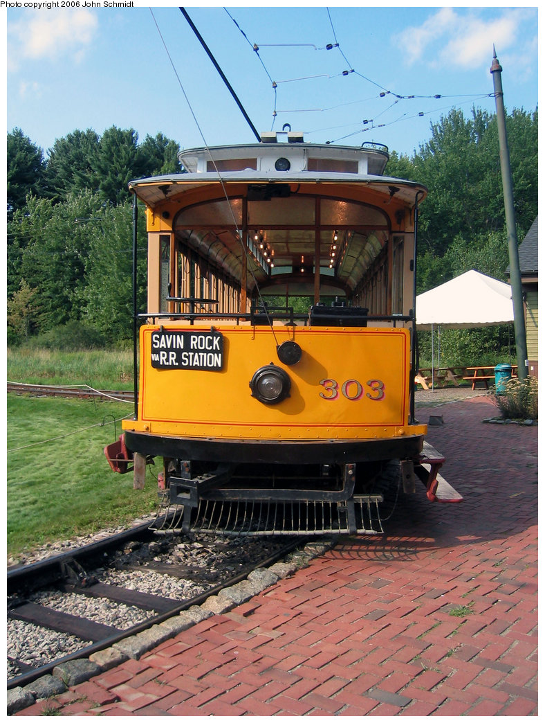 (278k, 788x1044)<br><b>Country:</b> United States<br><b>City:</b> Kennebunk, ME<br><b>System:</b> Seashore Trolley Museum <br><b>Car:</b> Connecticut Company 303 <br><b>Photo by:</b> John Schmidt<br><b>Date:</b> 8/18/2006<br><b>Viewed (this week/total):</b> 1 / 738