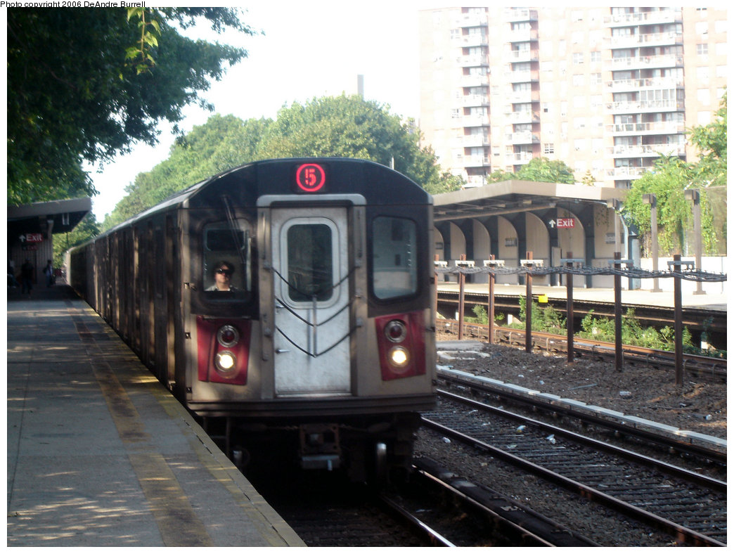 (235k, 1044x788)<br><b>Country:</b> United States<br><b>City:</b> New York<br><b>System:</b> New York City Transit<br><b>Line:</b> IRT Dyre Ave. Line<br><b>Location:</b> Baychester Avenue <br><b>Route:</b> 5<br><b>Car:</b> R-142 or R-142A (Number Unknown)  <br><b>Photo by:</b> DeAndre Burrell<br><b>Date:</b> 7/30/2006<br><b>Viewed (this week/total):</b> 0 / 3877