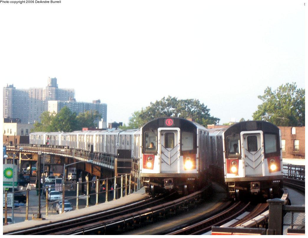 (190k, 1044x807)<br><b>Country:</b> United States<br><b>City:</b> New York<br><b>System:</b> New York City Transit<br><b>Line:</b> IRT Pelham Line<br><b>Location:</b> Buhre Avenue <br><b>Route:</b> 6<br><b>Car:</b> R-142 or R-142A (Number Unknown)  <br><b>Photo by:</b> DeAndre Burrell<br><b>Date:</b> 7/30/2006<br><b>Viewed (this week/total):</b> 0 / 5013